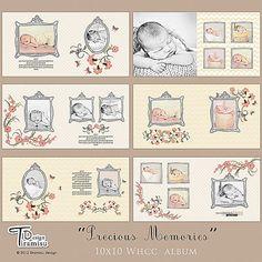 10x10 Whcc Album Photobook  Templates Precious Memories pink