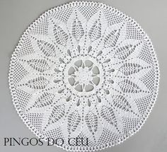 Huge white doily for home decor. 100 handmade. 97 by pingosdoceu, €90.00