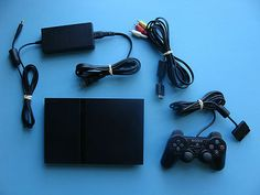 You are bidding on a Sony Playstation 2 Slim System with a Controller!     The system does have some wear on it (see pictures.)