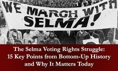 Interactive lessons and recommended resources that invite students to think critically and creatively about today's continued fight for social justice. Lessons The release of the film Selma in the 50th anniversary year of the Selma-to-Montgomery March and the Voting Rights Act of 1965 helped generate great interest in these pivotal stories from the Civil Rights …