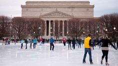 Located on the National Mall, Smithsonian's Sculpture Garden ice rink is surrounded by modern works of art. Enjoy the relatively mild Washington, DC, winter temperatures skating in the open air. On special nights get your groove on while you skate with music from local DJs.