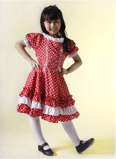 Lovely Short Sleeves Ruffled Cotton Sweet Kids Lolita Dress on www.ueelly.com