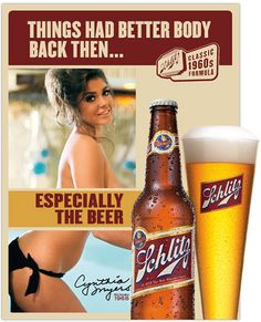 Cynthia Myers for Schlitz Beer - Miss December 1968 by spacesick, via Flickr