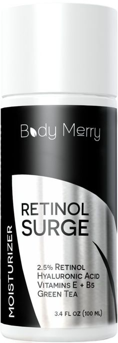 Retinol Moisturizer For Face - Best Daily Day/ Night Cream - Natural Anti-Aging with 2.5% Retinol, Hyaluronic Acid, Green Tea & Vitamins - Fights Wrinkles, Fine Lines & Spots - Body Merry - 3.4 oz * READ REVIEW @ http://www.castoroil.com.my/antiaging/10103/?373