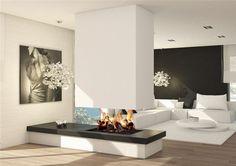chimenea moderna con estilo