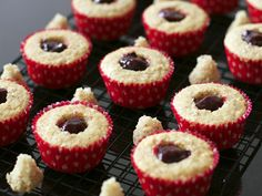 Pinned for the filling. Almond Cupcakes with Sweet Cherry Filling