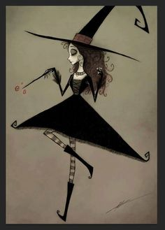 Burton Commission – Witch by A-Spooky-Stranger on DevianhhtArt - Halloween İdeas Tim Burton Kunst, Tim Burton Art, Tim Burton Style, Tim Burton Drawings, Halloween Painting, Halloween Art, Witch Painting, Happy Halloween, Desenhos Tim Burton