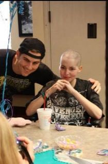 Lizzy (below in the photo with Matt) was a huge A7X fan who had cancer. Her only wish was to meet the band, so M. Shadows went and saw her. He's the only celebrity to have flown to a make a wish patient, usually the charity has to fly out the patient. She unfortunately passed away just 2 days later. He said he told her that when she got upstairs Jimmy would be waiting to give her a great big hug.