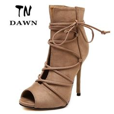Cheap wedding pillowcase, Buy Quality wedding sandals shoes directly from China shoe increase Suppliers: 2016 Gladiator High Heels Sexy Peep Toe Hollow Thin Heels Summer Cut Outs Plus Size Pumps Party Shoes Women Sandals Ankl