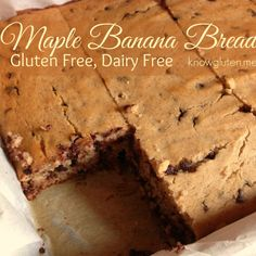 Gluten Free, Dairy Free Maple Banana Bread