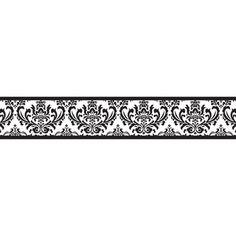 Black And White Damask Wallpaper Border