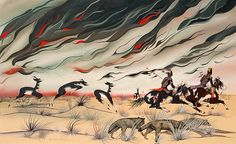 """""""Prairie Fire"""" by Francis Blackbear Bosin"""