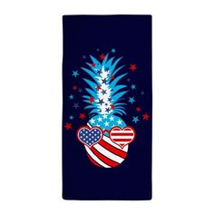 Funny Patriotic Pineapple American Spirit, Beach Towel, Party Planning, Pineapple, Diy Crafts, Funny, Pine Apple, Make Your Own, Funny Parenting