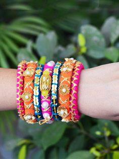 Silk Thread Bangles Design, Silk Bangles, Bridal Bangles, Diy Fabric Jewellery, Bead Jewellery, Tassel Jewelry, Diy Wedding Earrings, Gota Patti Jewellery, Handmade Jewelry Designs