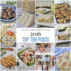Top Ten Recipes Posts 2016 - your homebased mom