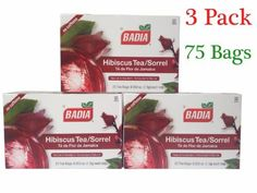 Badia Hibiscus Tea/Sorrel (3 Pack) 75 Bags(Natural Antioxidant) -- You can get more details by clicking on the image.