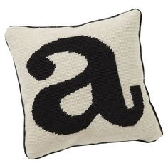 Alphabet Needlepoint Pillow, S