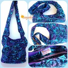 Hippy Satchel Hobo Bag Travel Bag ShoulderHobo Purse by Sunjunki, $29.00
