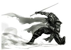 Medieval Fantasy, Dark Fantasy, Fantasy Art, Fantasy Character Design, Character Art, Character Concept, Ninja Assassin, Nail Bat, Ninja Art