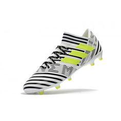 new style 778e0 6332a Adidas Nemeziz 17.1 FG - Billig Adidas Nemeziz 17.1 FG Herren Weiss Schwarz  Gelb Fussballschuhe Online