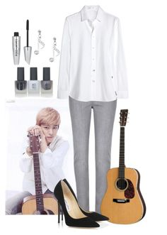 """Jam Session with Daehyun"" by sy223 ❤ liked on Polyvore featuring Per Una, Yves Saint Laurent, Jimmy Choo, Topshop, New Look, daehyun and bap"