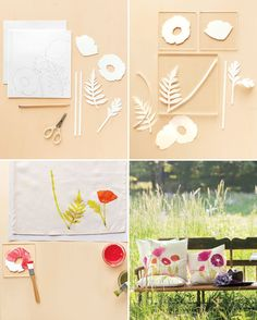 DIY: block-print poppies