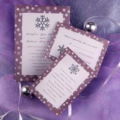 Single Snow Star Wedding Invitations INS167 [INS167] - $0.00 : Invitation Store, Invitationstyles.com