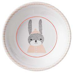 Assiette Creuse en Mélamine Sophia le lapin de Bloomingville
