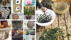 Easy DIY decorations for home and garden projects from twigs Easy DIY decorations for home and garden projects from twigs Natural, organic materials are increasingly used in home decor these days and it's easy to see why. Everything that surrounds us b… Twig Crafts, Diy Crafts For Home Decor, Diy Craft Projects, Garden Projects, Garden Ideas, Easy Garden, Home And Garden, Lavender Crafts, Twig Art