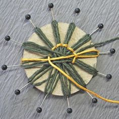 Flower Embroidery Garden of Grace: Wonderful Father and Twine Flower Tutorial Update for Really Reasonable Ribbon - Update March I now have a video tutorial for Girlie Grunge Twine Flowers showing how to create the loom and twine flower using Donn. Twine Flowers, Felt Flowers, Diy Flowers, Fabric Flowers, Paper Flowers, Twine Crafts, Yarn Crafts, Diy Crafts, Circular Weaving