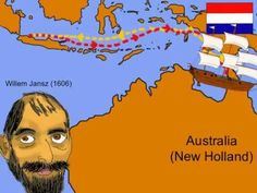Learn about the Early Explorers of Australia in this animated rap. Lyrics to rap. Willem Jansz: Back in March Dutchexplorer Willem Jansz, Co-mman-ded t. History Activities, History Education, Teaching History, Teaching Geography, Australia For Kids, Australia School, Western Australia, 8th Grade History, Primary History