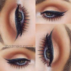 Makeupgeek cocoa bear + Mac melon pigment + maybelline gel liner + Nyx milk jumbo eyepencil(heidimakeupartist )