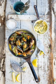 West Coast mussles with Café de Paris butterhttp://www.thefoodfox.com/2013/07/29/west-coast-mussels-with-cafe-de-paris-butter/