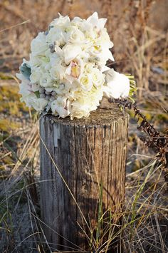 Winter White Bouquet | Photography: Snap! Photography | Flowers: Flowers by Semia | See more on Style Me Pretty http://stylemepretty.com/2012/01/30/newport-winter-wedding-by-snap-photography/