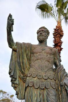 Septimus Severus, born in Leptis Magna, 145 AD, in front of  Leptis Magna museum, Libya