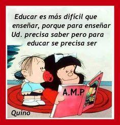 Educar no es lo mismo que ensañar. Para educar hay que ser #PsicologiaInfantil #Granollers