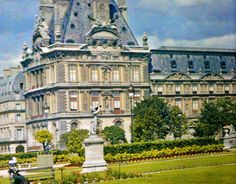 Old colored photos of paris