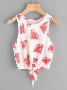 Crop Tank Decorated with Knot. Designed with Round Neck. Slim fit. Trend of Summer-2018. Designed in Multicolor. Fabric has some stretch.