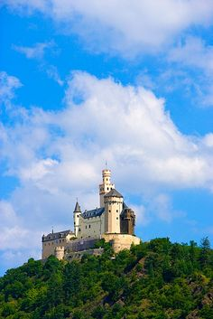 Marksburg Castle above the Rhine River, near Koblenz, Germany