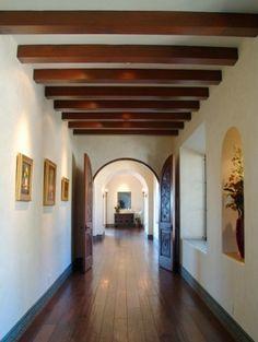 Wood beams across for a mediterainean look