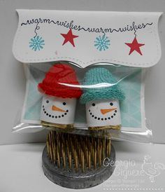 Snow Day Snuggets!  A fun gift idea using rubber stamps and Hershey's nuggets!