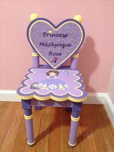 Attirant Sofia The First Custom Chair For Two Year Old!