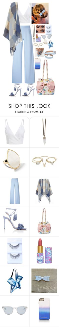 """""""Sky blue outfit"""" by ynessica ❤ liked on Polyvore featuring Givenchy, Ippolita, Lipsy, Christopher Kane, Dorothy Perkins, Aquazzura, Betsey Johnson, tarte, Thierry Mugler and Sun Buddies"""
