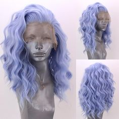 """6,725 Likes, 102 Comments - Josh Webster / Webster Wigs (@websterwigs) on Instagram: """"✨ Amber is now in stock in this gorgeous pastel """"Glacier Blue"""" shade!✨ She's 20 inches of Beachy…"""""""