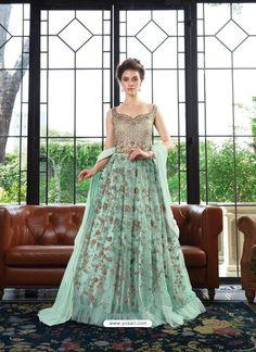 433f3f29f2 Scintillating Sky Blue Embroidered Designer Anarkali Suit