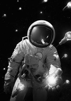 Digital art by Jie Ma.More Cosmonaut here.