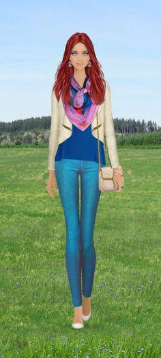 Fashion Game- Cornflower Blue
