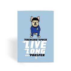 Frenchie Spock Greeting Card