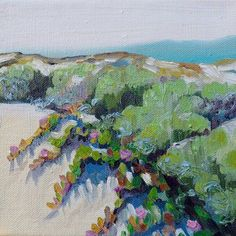 Pismo Beach California Sand Dunes Landscape by Laurasaleart