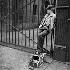Shoeshine boy, 1947, photo by Stanley Kubrick viakenhatter